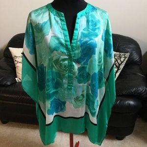 New York & Co. Flowing Scarf Top